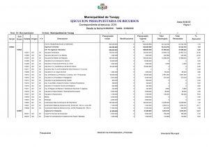 Ejecucion Presupuestaria de Ingresos Mensual 1
