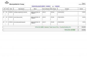 Pagos Realizados por Fecha e item del presupuesto12